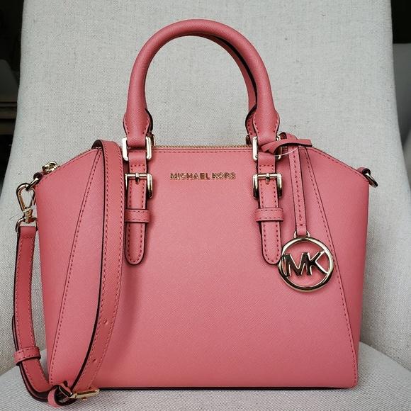NWT Michael Kors MD Ciara Satchel Pink grapefruit Boutique